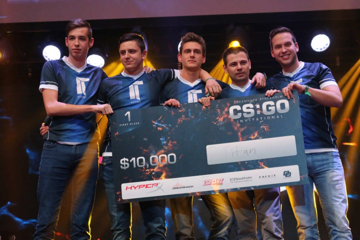 Titan after winning DreamHack Stockholm.