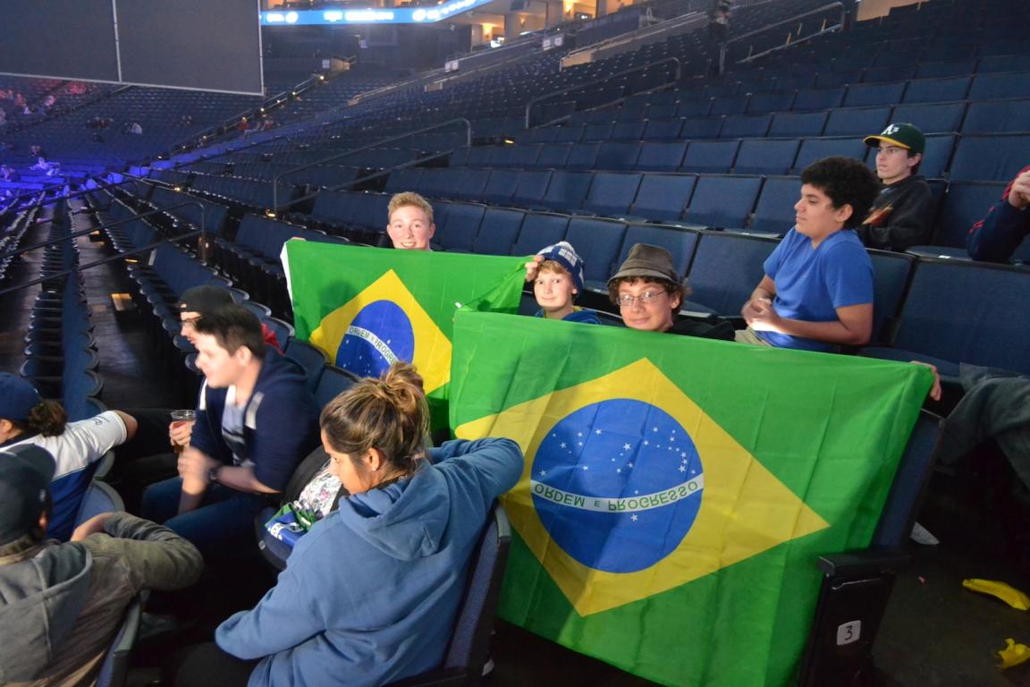 The Brazilian fans were not let down