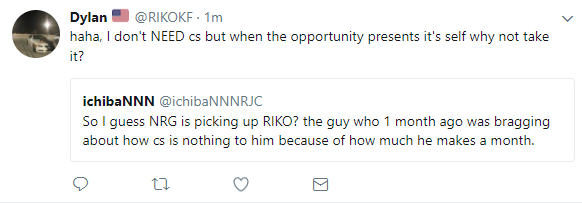 In a now deleted tweet, RIKO himself appeared to agree with the suggestion he will be joining NRG.