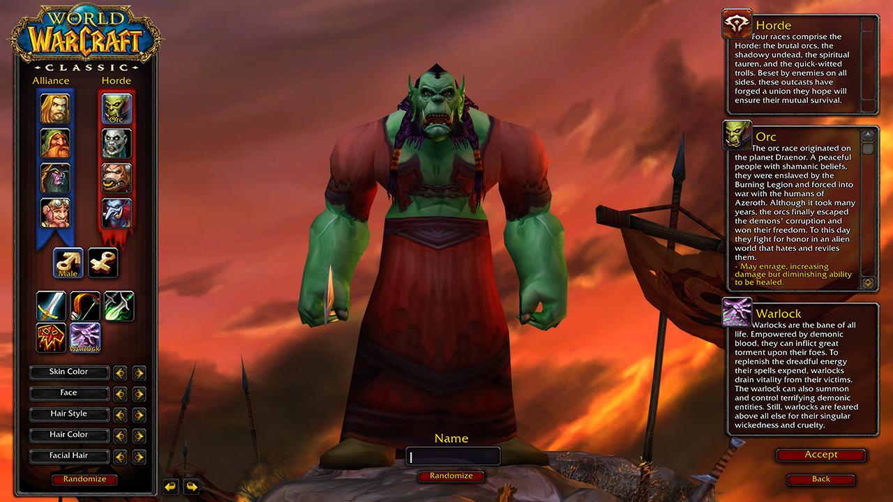 Du kan justera din karaktär för att göra den unik. Bildkälla: Blizzard Entertainment