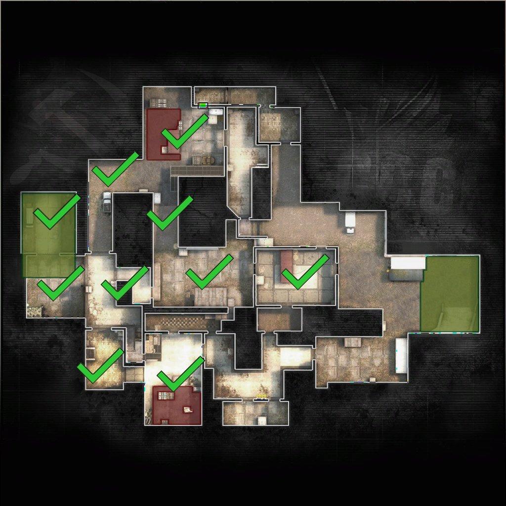 FMPONE verkar bara ha kvar T-spawn, B-halls och A-main att göra om innan kartan är färdig. Bildkälla: FMPONE