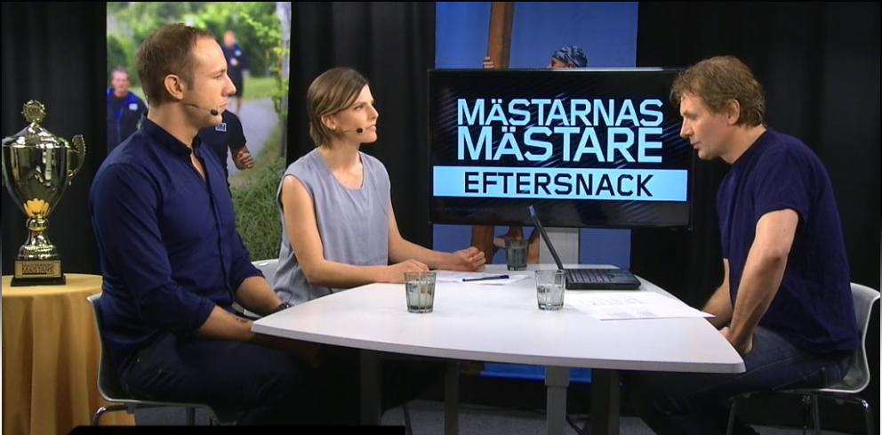 Christensen i Mästarnas Mästares eftersnack. Stillbild från SVT.