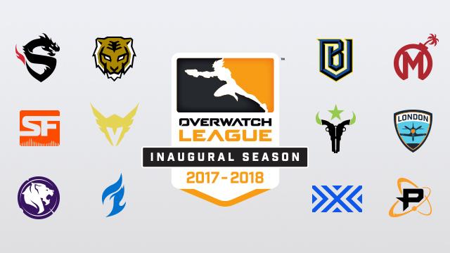 Samtliga deltagande lag. Bild: Overwatch League