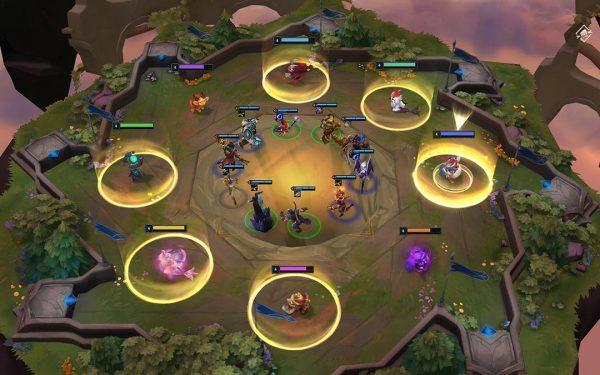 Karusellen innehåller karaktärer och items som kan användas under rundorna. Bildkälla: Riot Games