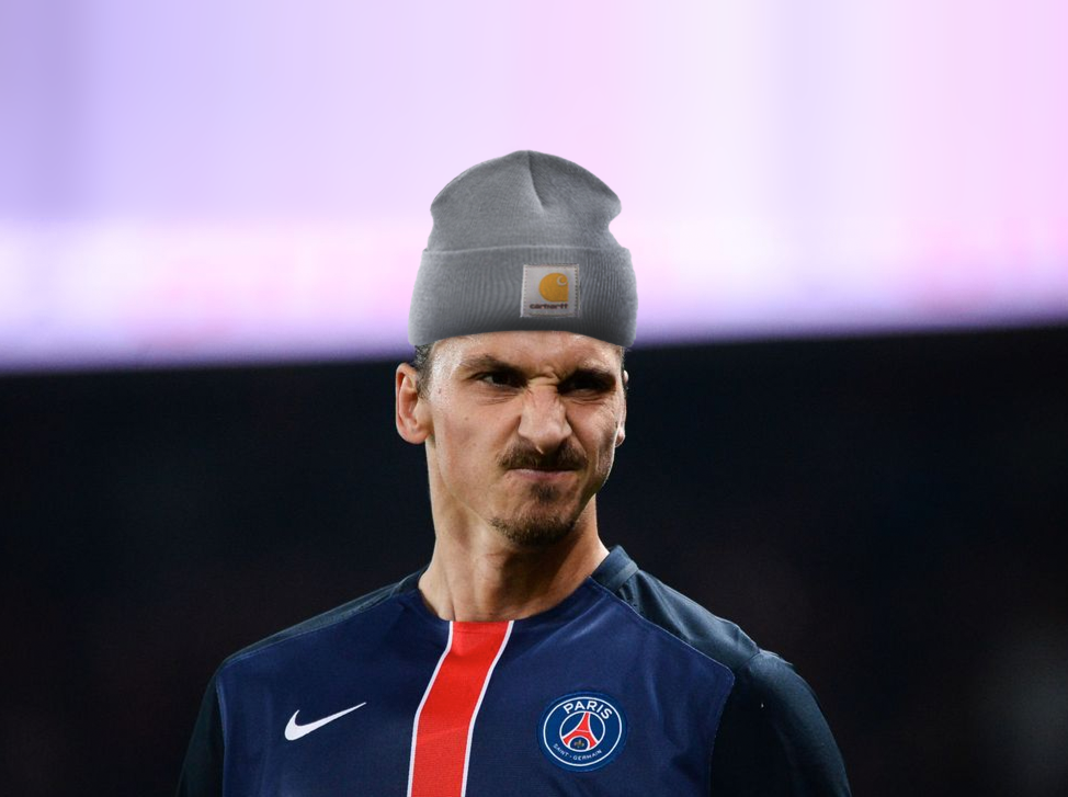 Zlatko går inte direkt med mössa på fotbollsplan? | <small>Obs, det är ett montage, lol</small>