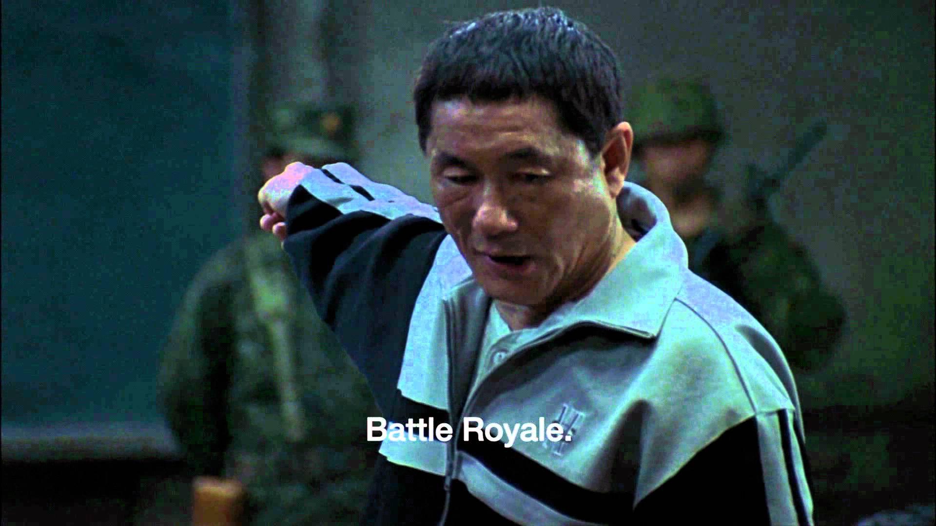 Jag blir alltid sugen på att se den japanska klassikern Battle Royale då PUBG kommer på tal.