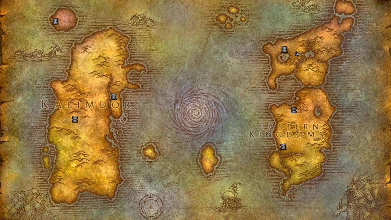Det finns många platser att besöka i Azeroth. Bildkälla: Blizzard Entertainment