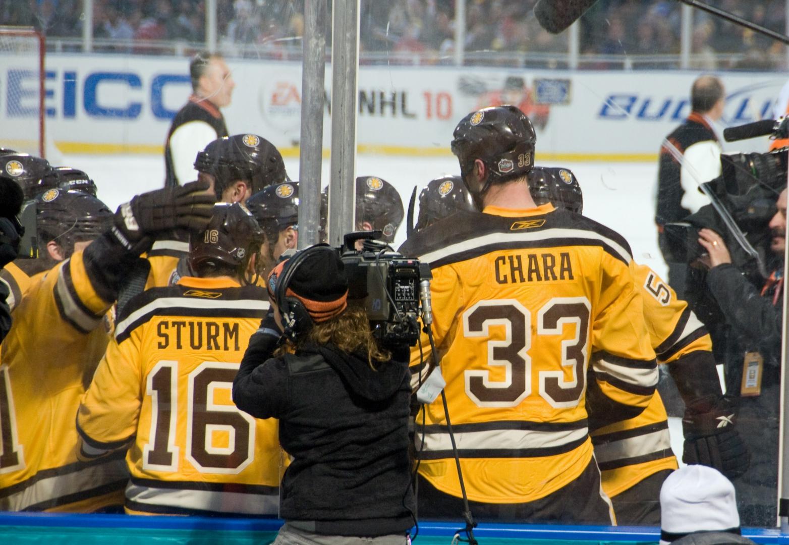 Boston-spelare firar.Foto: Eric Kilby